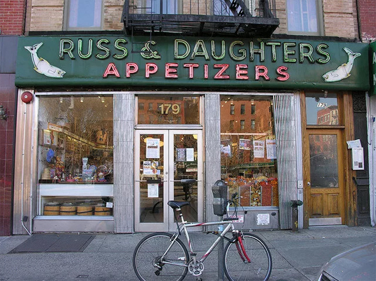 New York City: Russ and Daughters storefront